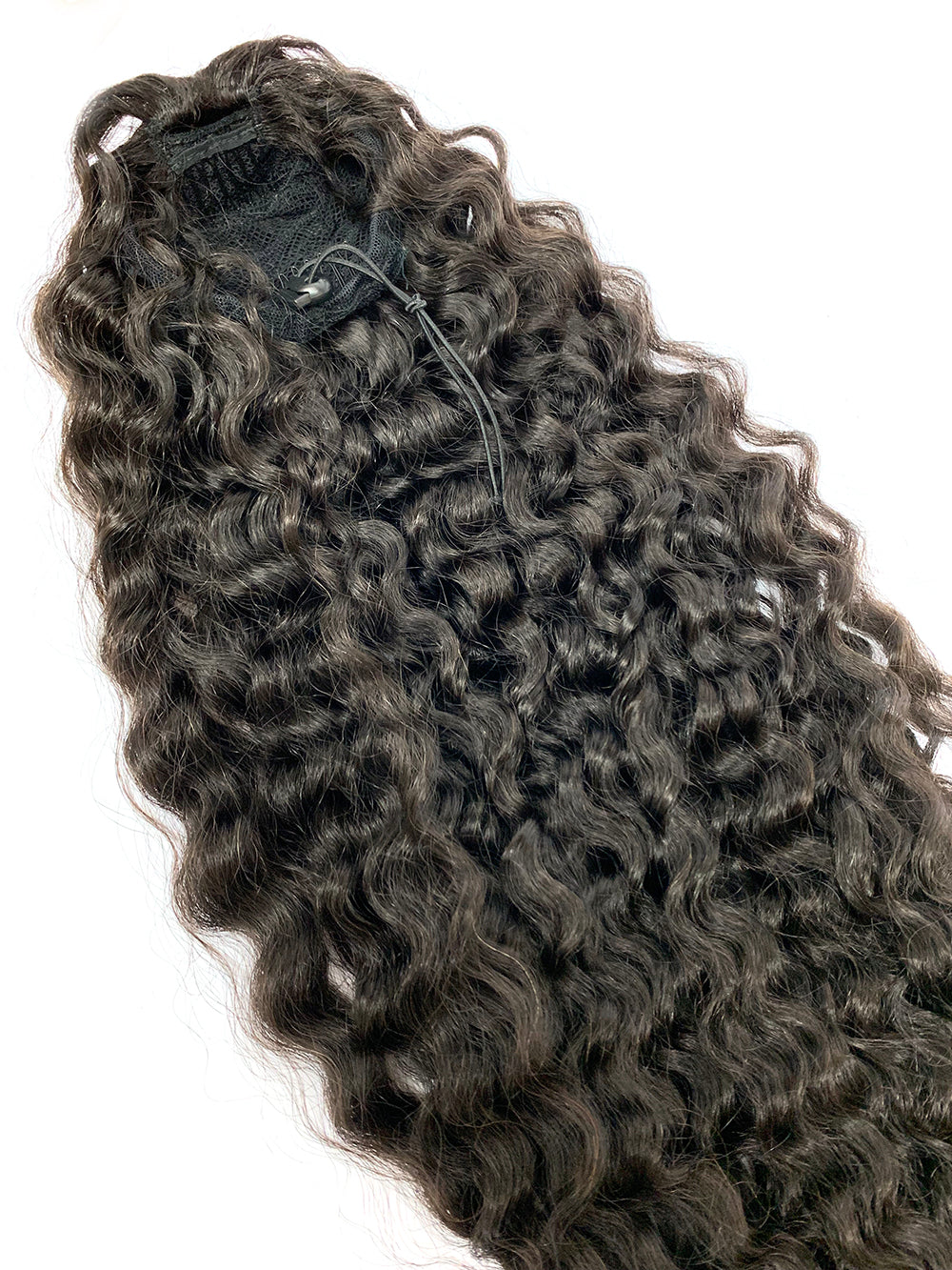 "Draw String Ponytail Deep Wave Human Hair 26"" - Hairesthetic"