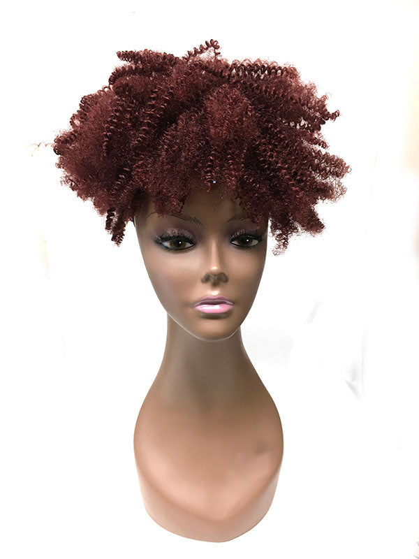 "Draw String Ponytail in  Tight Kinky Curly , 100% human hair 14"" - Hairesthetic"
