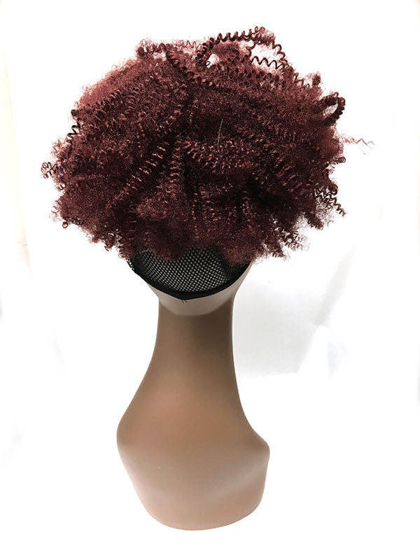 Draw String Ponytail in  Tight Kinky Curly , 100% human hair - Hairesthetic