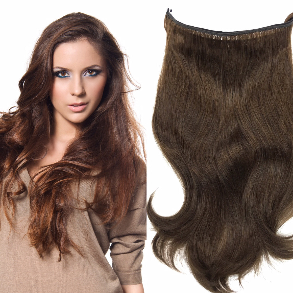 Easy Hair Extensions - Wired Hair Extensions- Dark Colors - Hairesthetic