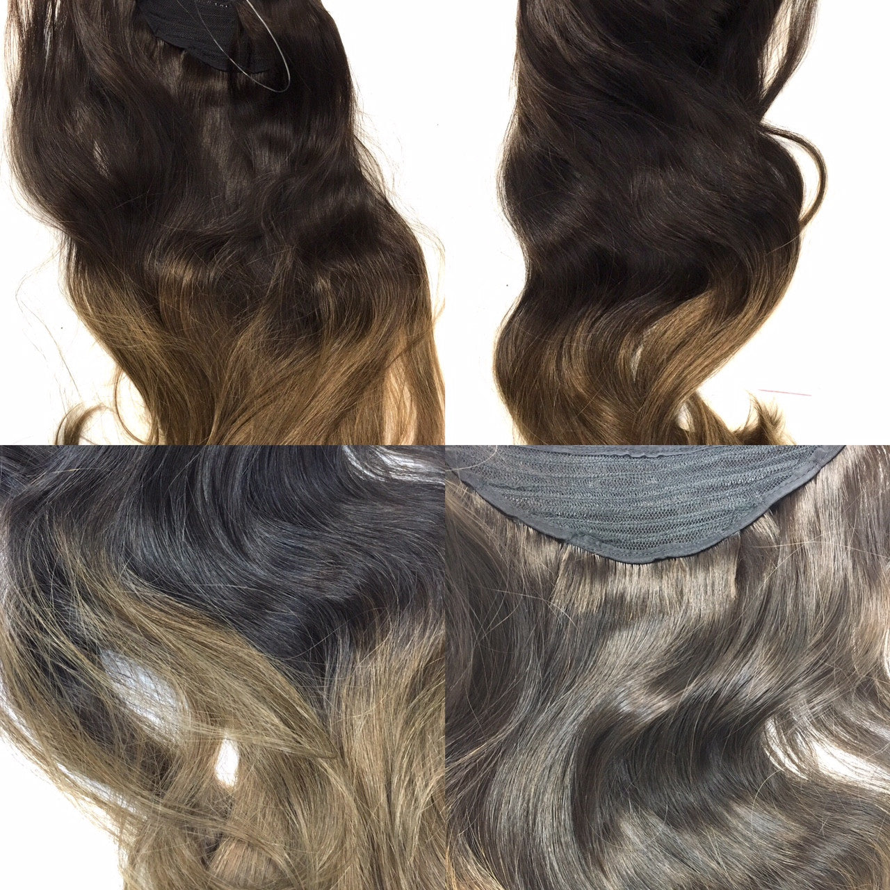 Easy Hair Extensions Wired Hair Extensions Ombre Colors