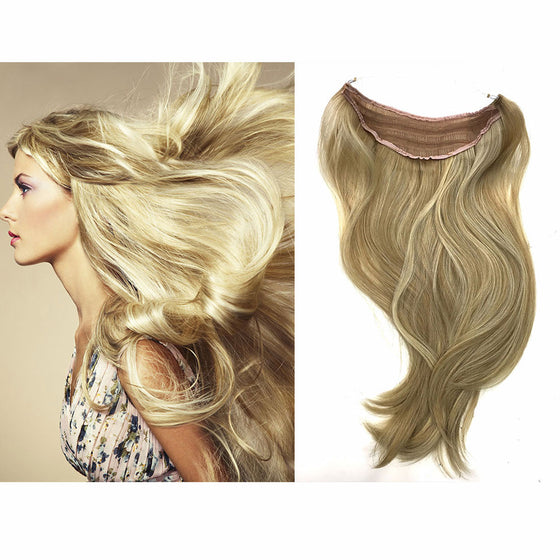 "Easy Hair Extensions - Wired Hair Extensions- Blonde Colors 20"" - Hairesthetic"