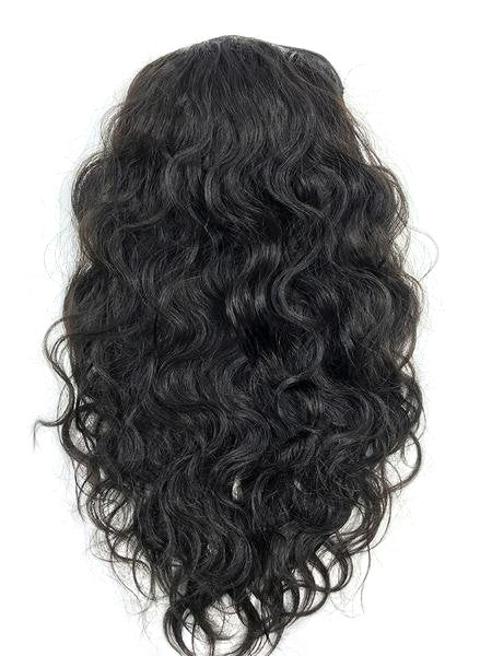 Half Wig 100% Human Hair in Deep Bodywave 18""