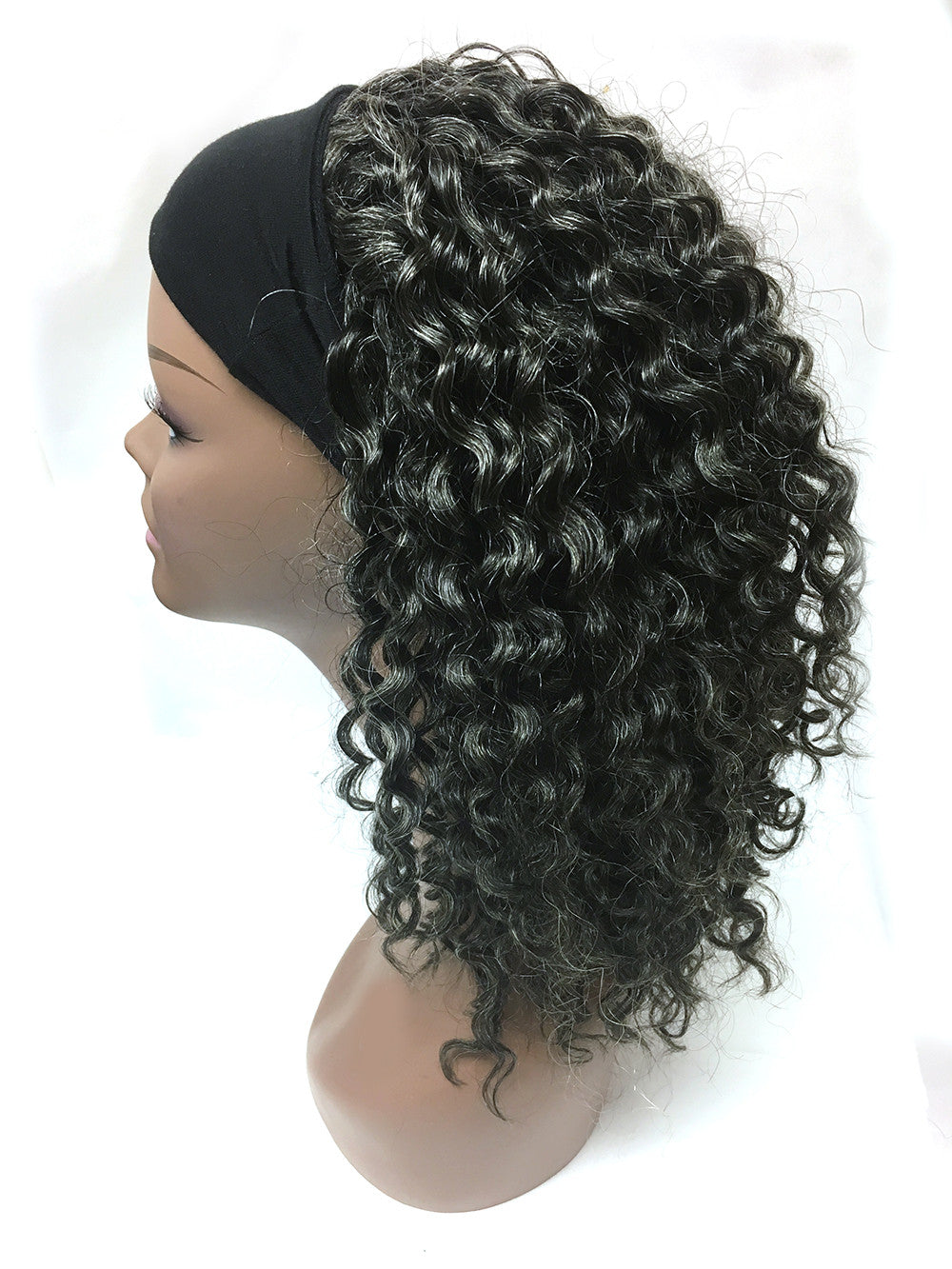 "Head Band Half Wig - 100% Human Hair Tight Kinky Wave 18"" - Hairesthetic"