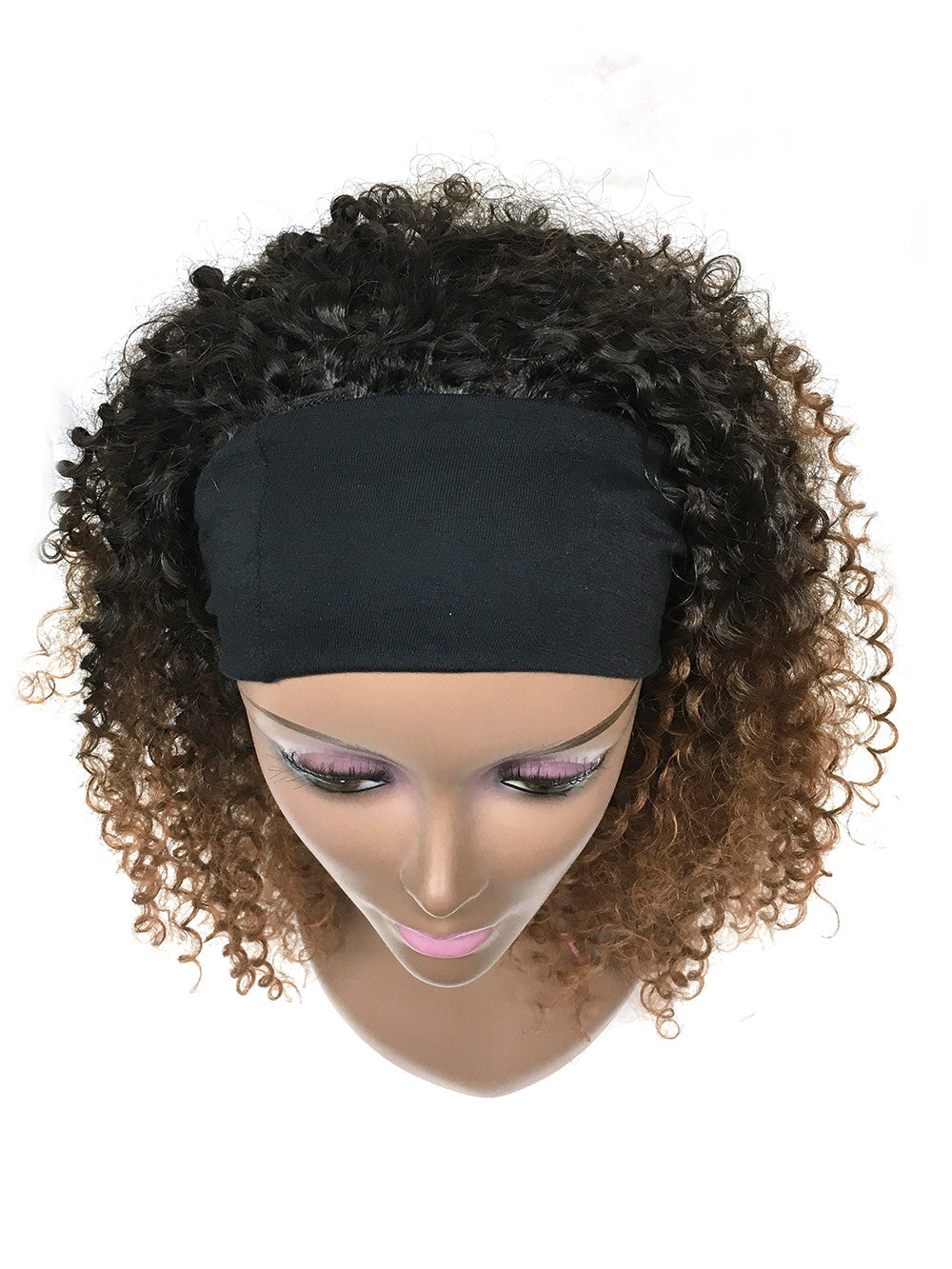 Head Band Half Wig - 100% Human Hair Tight Kinky Wave