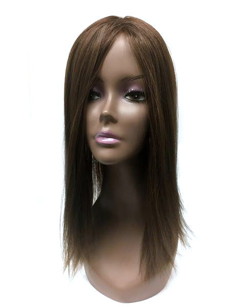 "Hair Topper with Yaki Straight - 100% Human Hair 22"" - Hairesthetic"