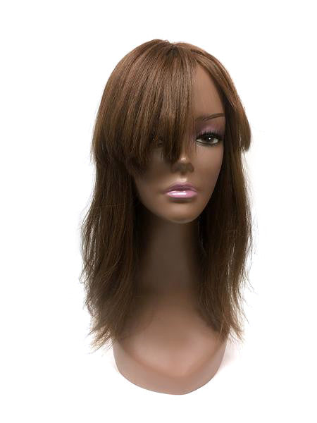 Hair Topper with Yaki Straight - 100% Human Hair 22""