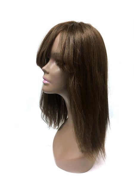 Hair Topper with Yaki Straight - 100% Human Hair 18""