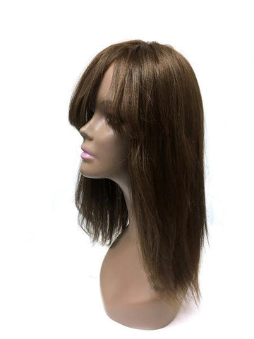 "Hair Topper with Yaki Straight - 100% Human Hair 12"" - Hairesthetic"