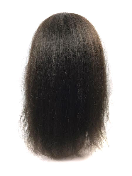 Hair Topper with Kinky Straight-100% Human Hair 14""