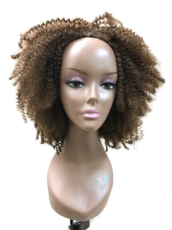 "Half Wig 100% Human Hair in Tight Kinky Curly 14"" - Hairesthetic"