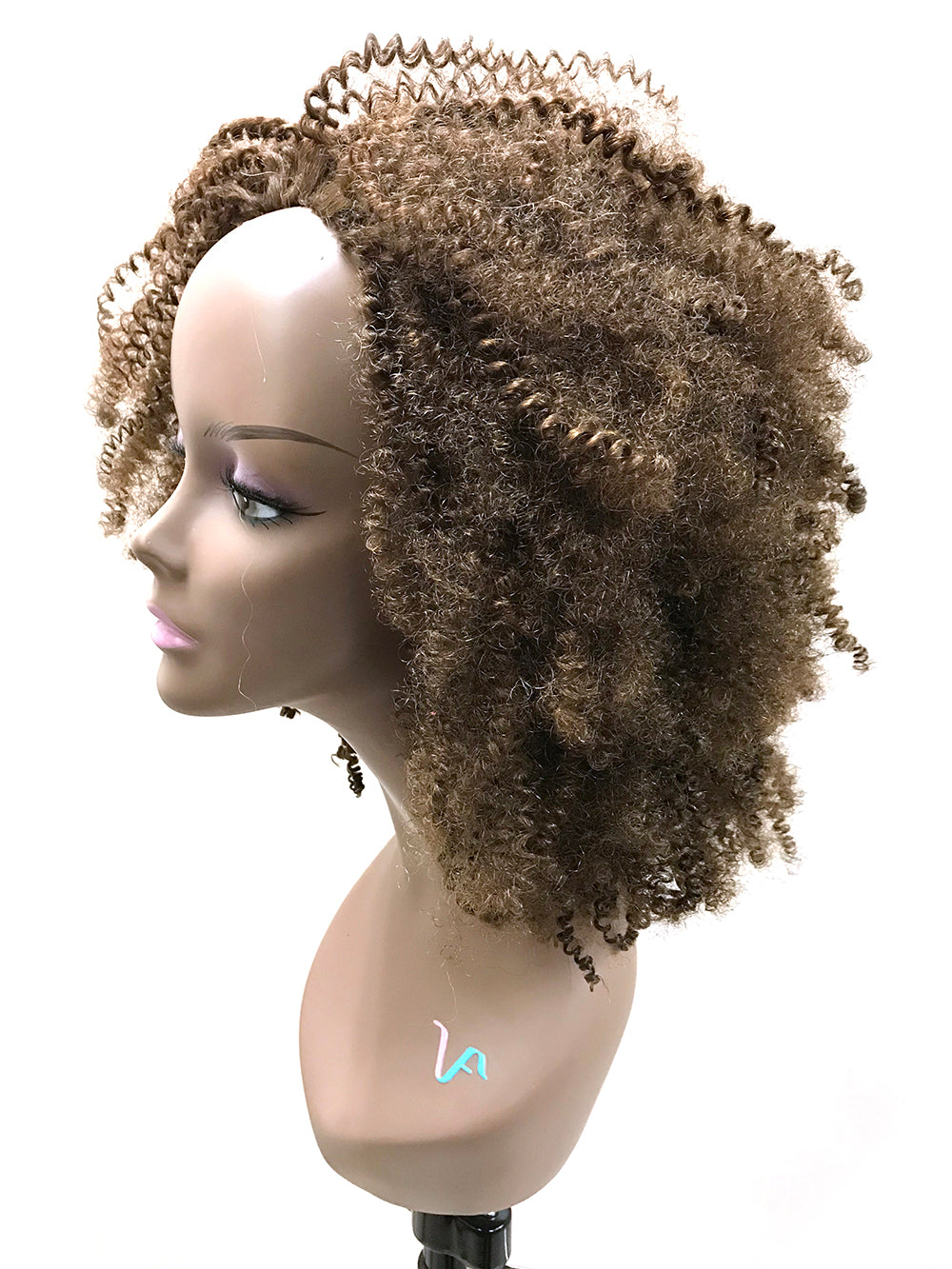 "Half Wig 100% Human Hair in Tight Kinky Curly 18"" - Hairesthetic"