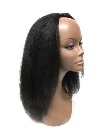 "Half Wig 100% Human Hair in Kinky Straight 14"" - Hairesthetic"