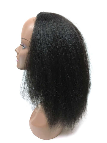 "Half Wig 100% Human Hair in Kinky Straight 12"" - Hairesthetic"
