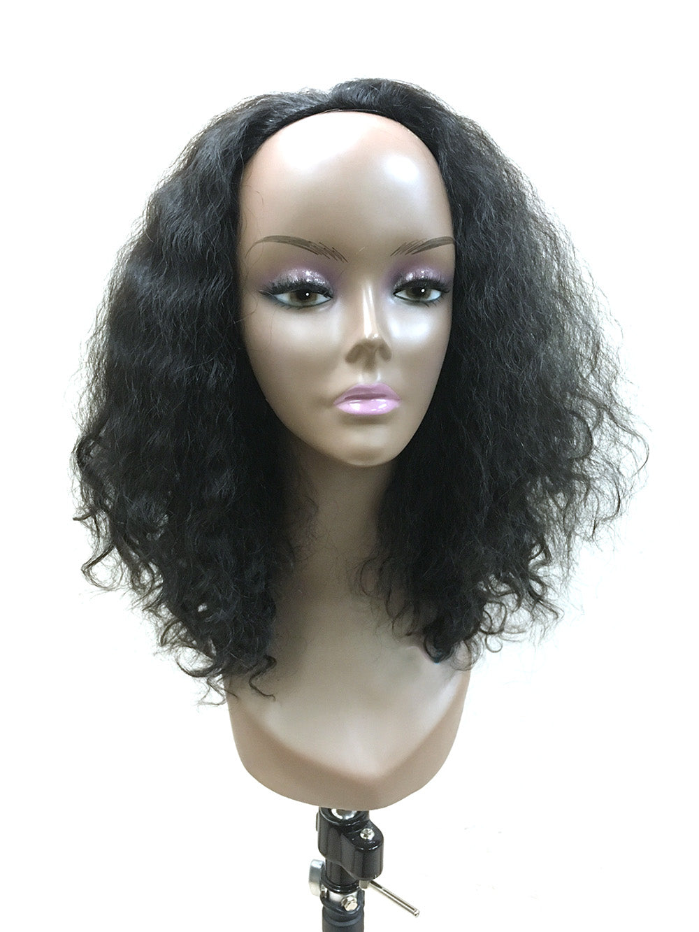 "Half Wig 100% Human Hair in Kinky Wave 14"" - Hairesthetic"