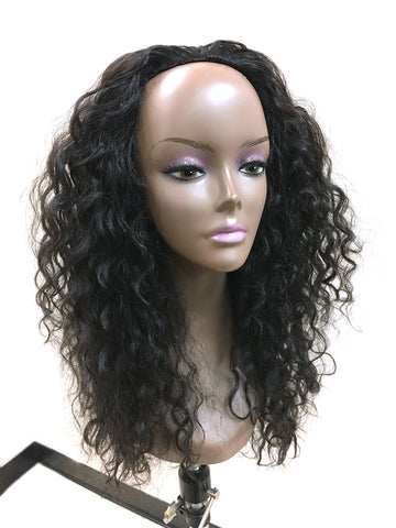 "Half Wig 100% Human Hair in Kinky Wave 18"" - Hairesthetic"