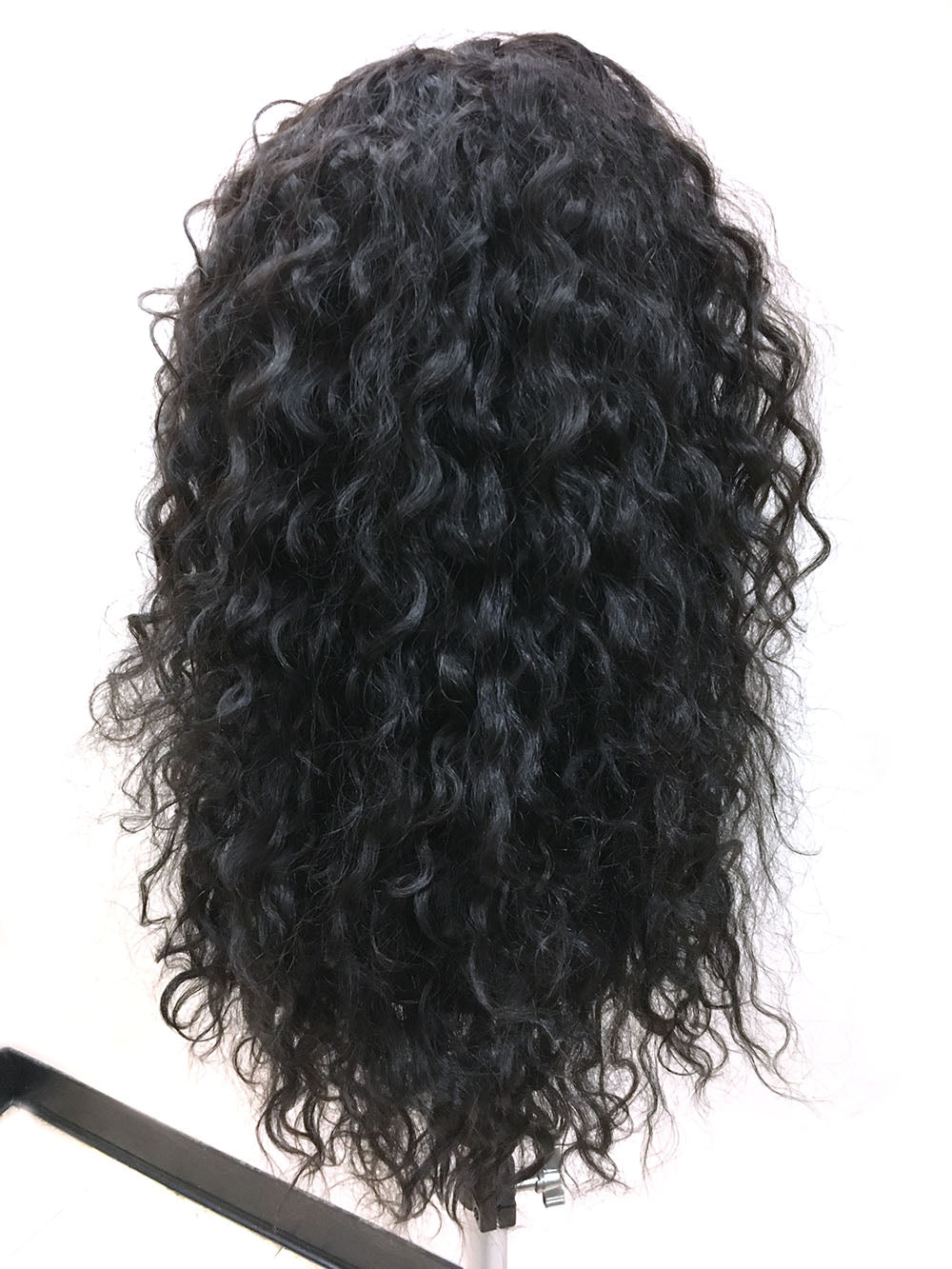 "CUSTOM-180% Density Half Wig 100% Human Hair in Kinky Wave 18"" - Hairesthetic"