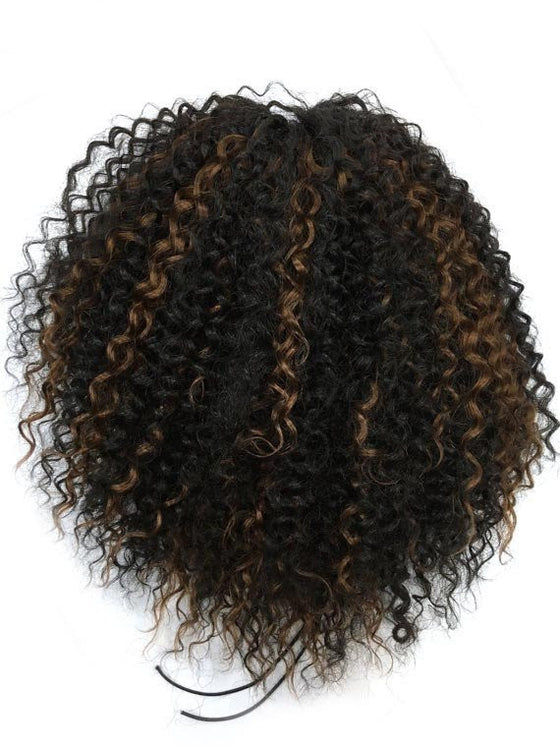 "Draw String Ponytail in Kinky Curly , 100% human hair 12"" - Hairesthetic"
