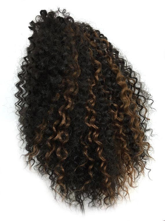 "Draw String Ponytail in Kinky Curly , 100% human hair 14"" - Hairesthetic"