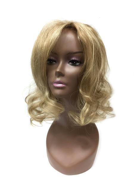 Honey Comb Base Topper with Indian Remy Bodywave 14""