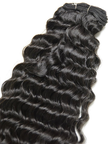 "Indian Remy Deep Wave Human Hair Extensions - Wefted Hair 22"" - Hairesthetic"