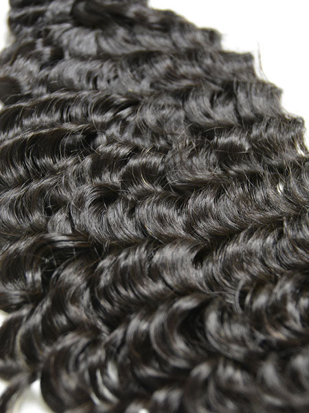 Indian Remy Deep Wave Human Hair Extensions - Wefted Hair 14""