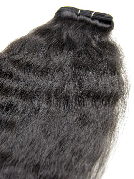 "Indian Remy Kinky Wave Human Hair Extensions - Wefted Hair 18"" - Hairesthetic"