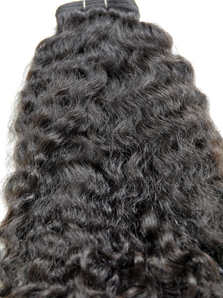 "Indian Remy Kinky Wave Human Hair Extensions - Wefted Hair 12"" - Hairesthetic"