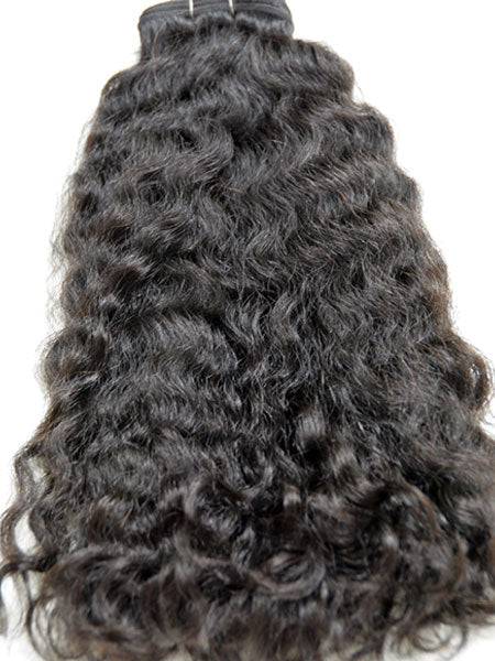 "Indian Remy Kinky Wave Human Hair Extensions - Wefted Hair 26"" - Hairesthetic"