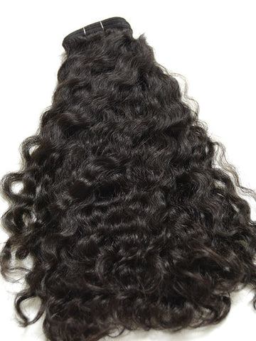 "Indian Remy Kinky Wave Human Hair Extensions - Wefted Hair 14"" - Hairesthetic"