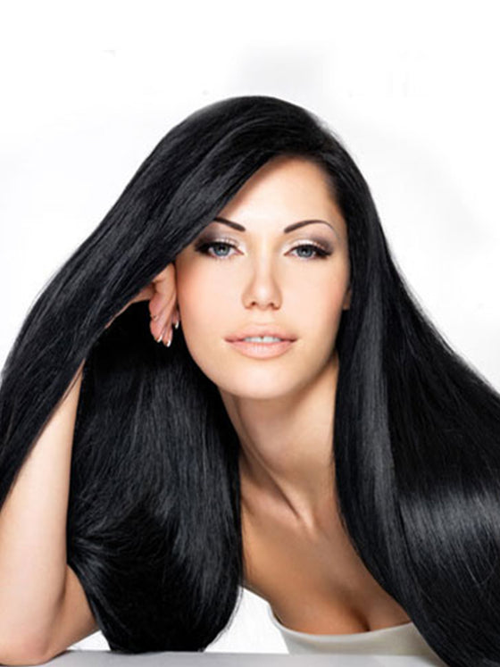 "Indian Remy Silky Straight Human Hair Extensions - Wefted Hair 14"" - Hairesthetic"
