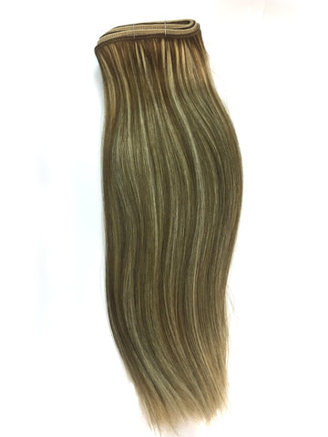 "Indian Remy Silky Straight Human Hair Extensions - Wefted Hair 22"" - Hairesthetic"