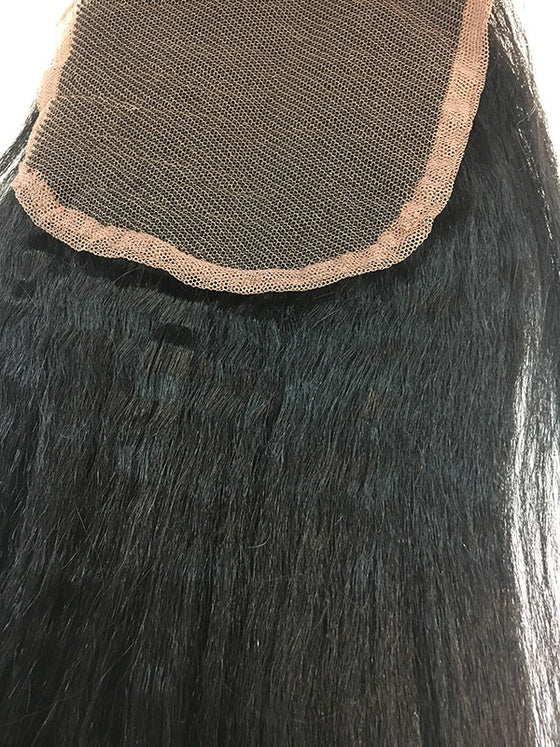 "Lace Front Closure 4x4"" with Kinky Straight Hair 16"" - Hairesthetic"