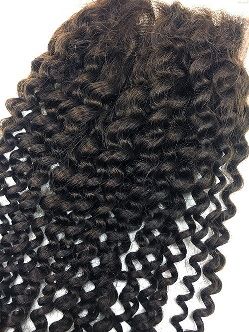 "Lace Front Closure 4x4"" with Kinky Curly Hair 16"" - Hairesthetic"