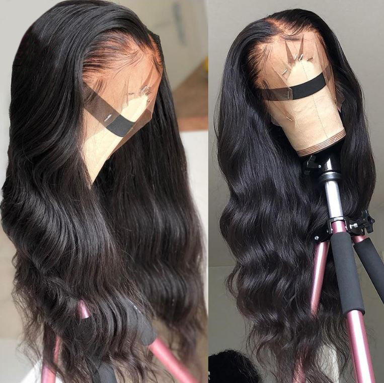Lace Front Brazilian Bodywave Human Hair Wig Pre Plucked With Baby Hair