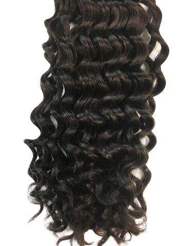 "Wefted Remy Deep Wave Human Hair 18"" - Hairesthetic"