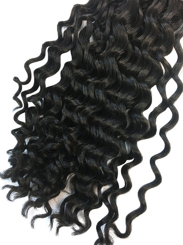 "Wefted Remy Deep Wave Human Hair 22"" - Hairesthetic"
