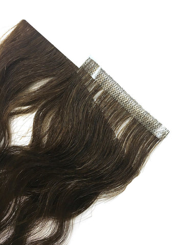 "6 Pcs Skin Weft Wavy Human Hair Extensions 18"" - Hairesthetic"