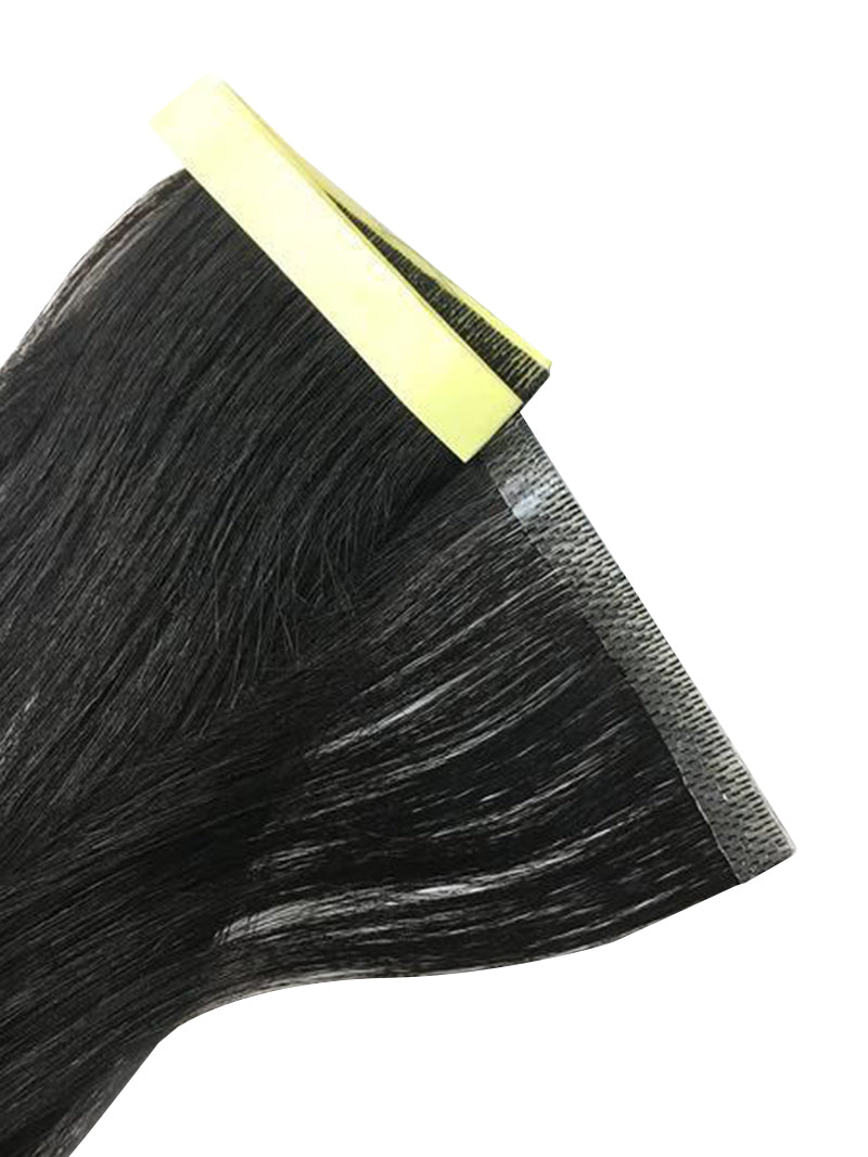 "1 Pc Skin Weft Yaki Straight Human Hair Extensions 18"" - Hairesthetic"