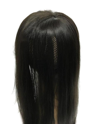 "Custom Hair Topper with Straight - 100% Human Hair 14"" - Base 8x9 - Hairesthetic"