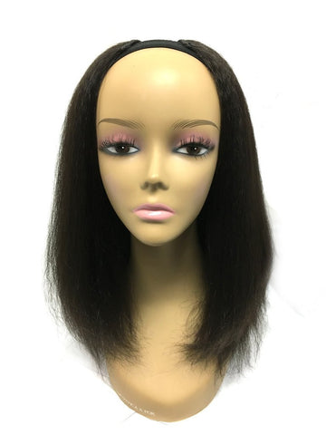 "Custom U Part Blended Hair - Kinky Straight and Kinky Wave 14"" Color #1b - Hairesthetic"