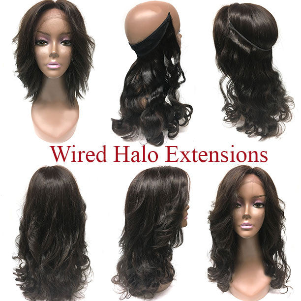 Easy Hair Extensions - Wired Hair Extensions- Dark Colors