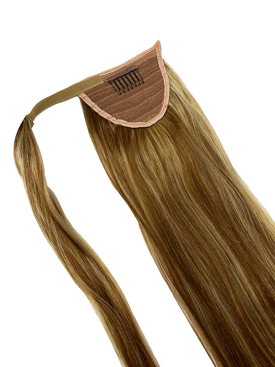 "Wrap Around 100% Human Hair Ponytail in Straight 14"" - Hairesthetic"
