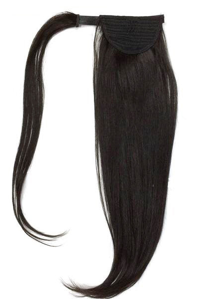 "Wrap Around 100% Human Hair Ponytail in Straight 18"" - Hairesthetic"