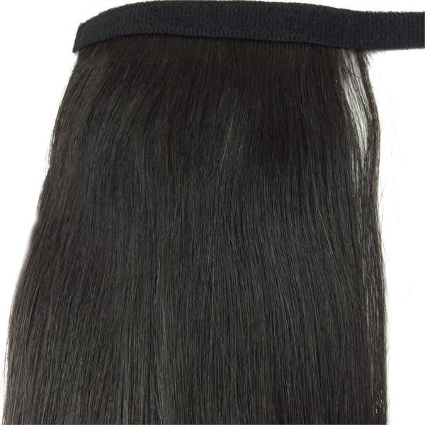 "Wrap Around 100% Human Hair Ponytail in Straight 12"" - Hairesthetic"