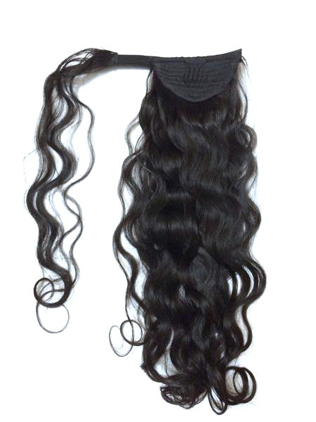 "Wrap Around 100% Human Hair Ponytail in Deep Bodywave 18"" - Hairesthetic"