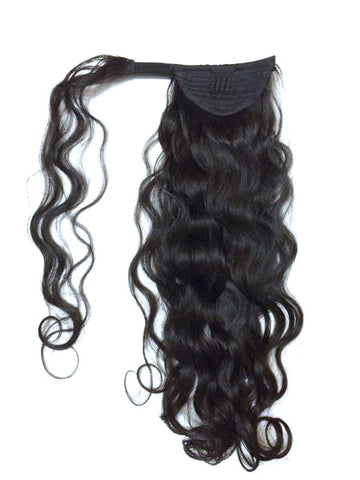 "Wrap Around 100% Human Hair Ponytail in Deep Bodywave 12"" - Hairesthetic"