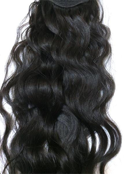 "Wrap Around 100% Human Hair Ponytail in Deep Bodywave 14"" - Hairesthetic"