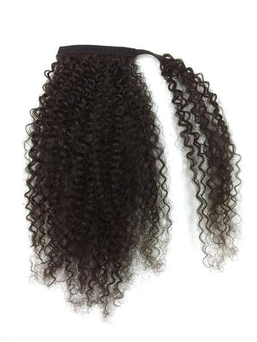 "Wrap Around 100% Human Hair Ponytail in Kinky Curly 14"" - Hairesthetic"