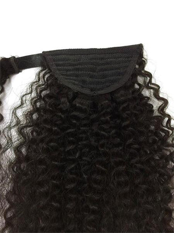 "Wrap Around 100% Human Hair Ponytail in Kinky Curly 18"" - Hairesthetic"